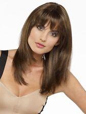 US Fashion Straight Women Brown Bangs Long Medium Natural Cosplay Hair Full Wigs