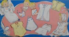 1940s Infant Layette ~ Trousseau Motifs Uncut Vogart 139 Embroidery Transfer