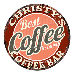 CBCB0260 CHRISTY'S COFFEE BAR Sign Mother's day Birthday Christmas Gift Ideas