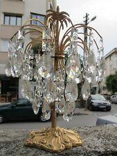 Vintage Austrian Palm Style Swarovski Crystal Table Lamp Light 1970s Rare