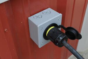 2-Gang 20/30 Amp Twist Lock Power Inlet Receptacle  L14-30 L14-20 L5-30 L6-30