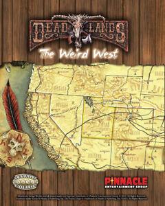 Savage Worlds RPG: Deadlands - Map of the Weird West