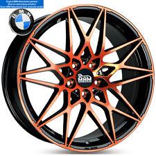 19 Zoll MAM B2 Alufelgen 5x120 Schwarz Orange im BMW GTS M4 Design für 3er 5er *