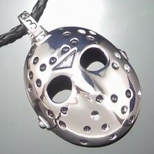 """Friday the 13th Jason's Mask Horror Pewter Pendant w/ 20"""" Choker Necklace PP#241"""