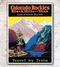 "Vintage Travel Poster Art Colorado Print 11x14""  A188"
