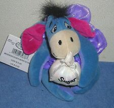 "DISNEY STORE WINNIE THE POOH SUGAR PLUM FAIRY EEYORE 8"" PLUSH BEAN BAG TOY"