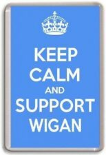 KEEP CALM AND SUPPORT WIGAN, WIGAN ATHLETIC FOOTBALL TEAM Fridge Magnet