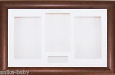 groß 3D dunkles Holz Shadow Box Zertifikat Blumen Guss Medaille Display