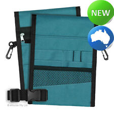 Nursing Pouch-13 Pocket Double Sided, Zip, Belt, Embroidery, Nurse - Teal