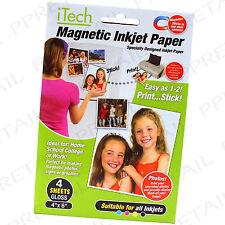 4x Magnetic Gloss Paper for All Inkjet Printers Fridge Card Wedding Photo Gift