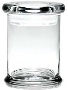 Small Glass Storage Jar With Air Tight Sealed Lid Kitchen Cruet THICK Clear*USA*