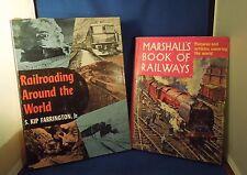 Vintage Lot 2 Railroad Books Marshall's Book of Railways / Railroading Around