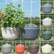 Wall Hanging Flower Pot Garden Fence Balcony Basket Plant Flower Planter Decor