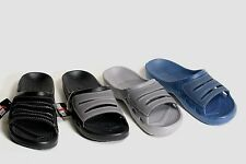 NEW MENS FAUX SUEDE SLIP ON FOAM RUBBER SPORT SLIDES SANDALS SHOES SZ 8 - 12