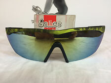 NOS Vtg Salice 80's Sport Wrap Cycling Ski Volleyball Surf Neon Flash Sunglasses