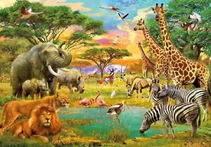 Malen nach Zahlen 40 x 50 cm Tier Zoo Leinwand Handgemacht Ölgemälde Wohnkultur
