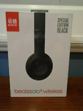BEATS Dr Dre Solo3 Wireless Over The Ear Headphones Special Edition Black SEALED