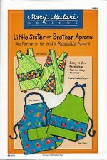 Little Sister & Brother Aprons sewing pattern, Mary Mulari , Kids aprons