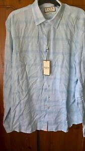 Mens Thomas Pink 100% Linen Shirt Size Medium 15.5-16 BNWT