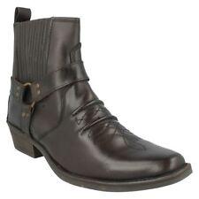 Botas de hombre vaqueros de piel color principal marrón