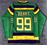 The Mighty Ducks #99 Adam Banks Hockey Jersey Stitched Green