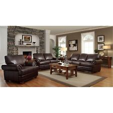 Coaster Furniture Colton Brown Sofa and Loveseat Living Room