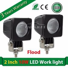 2 10W CREE LED Work Light Flood offroad 4X4 Truck ATV Motorcycle Fog lamp Square