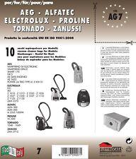 Elettrocasa AG 7 x A&g - Confezione 10 Sacchetti compatibili con Aspir