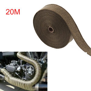 20M Titanium Exhaust Heat Wrap Manifold Downpipe High Temp Bandage Tape Roll