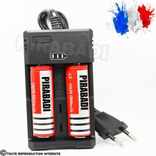 2 PILES ACCU RECHARGEABLE 18650 3.7v 5800mAh BATTERY BATTERIE + CHARGEUR RS-93