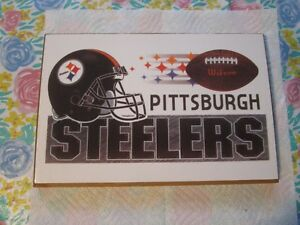 """[7.25"""" X 11""""]~PITTSBURGH STEELERS NFL WOODEN WALL PLAQUE~~~NEW"""