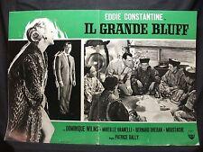 FOTOBUSTA CINEMA - IL GRANDE BLUFF - EDDIE CONSTANTINE - 1957 - AVVENTURA - 01