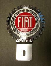 New Fiat License Plate Topper- Chromed Brass- Great Gift Item