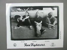 Foo Fighters promo photo 8 X 10 black & white leaning on car !