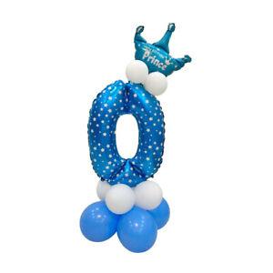 Folienballon Zahlenballon Latexballon Baby Dusche Party Kindergeburtstag Deko