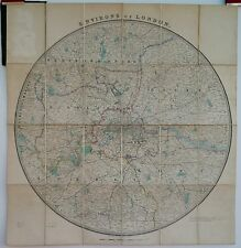 Antique maps, du marié new map of county rond london c. 1880