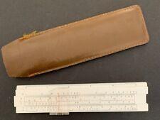 Vintage 1960s Pocket Slide Rule in Brown Vinyl Case