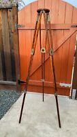 Vintage wood tripod. Solid legs, platform for camera with 1/4 screw
