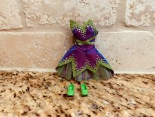 Disney Fairies Tinkerbell barbie  Green Shoes and dress only