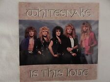 """WHITESNAKE """"IS THIS LOVE"""" PICTURE SLEEVE! BRAND NEW! ONLY NEW COPY ON eBAY!!"""