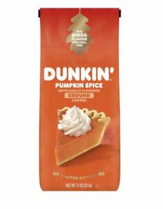 Dunkin' Donuts Pumpkin Spice Ground Coffee 11oz Bag Limited Edition BB 9/5/21