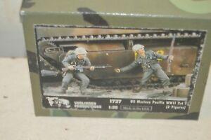 Model 2 Figurine VERLINDEN US Marine Pacific WWII Set 1 New N° 1737 1/35