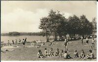 Ansichtskarte Deutschbaselitz/Kreis Kamenz - Waldbad mit Kindern - schwarz/weiß