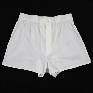 NWT BRIONI Solid White Luxury Cotton Elastic Waist Underwear Boxer Shorts S