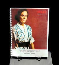 New listing Pfaff Creative Sensation Senation Pro Ii Embroidery Collection - Free Shipping