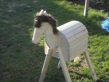 Mini Holzpferd Voltigierpferd Holzpony Pferd Pony -neu- braune Mähne