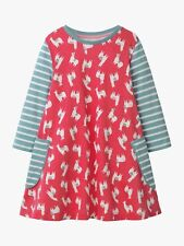 NWT Mini Boden Printed Tunic Dress Llama emu Fun Print Berry Multi sz 8 9 Girls