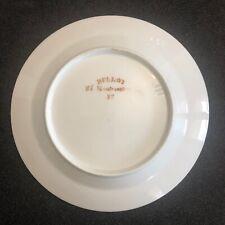 Montmartre exceptionnelle Assiette porcelaine de Paris signée Fin XVIII déb XIX