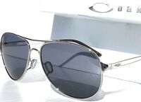 NEW* Oakley CAVEAT SILVER 60mm Aviator Grey Iridilum Women's Sunglass 4054-02