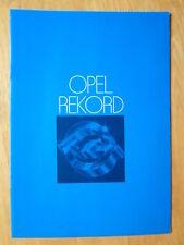 OPEL REKORD E RANGE 1978 UK Mkt Sales Brochure